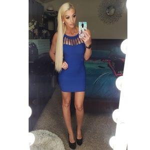 Caged Royal Blue mini dress size 5/Small